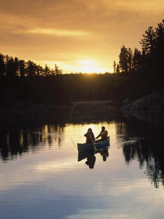 People Canoeing, Basswood Lake, Boundary Waters