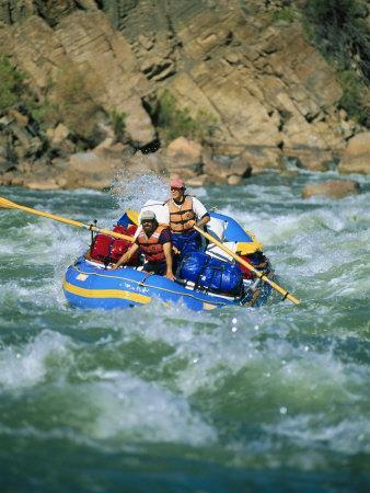 People White-Water Rafting on Colorado River