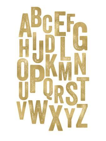 Alphabet Golden White by Amy Brinkman