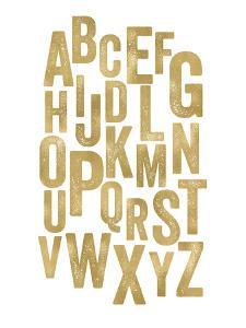 Alphabet Golden White by Amy Brinkman