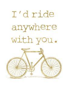 Bicycle I'd Ride Anywhere Golden White by Amy Brinkman