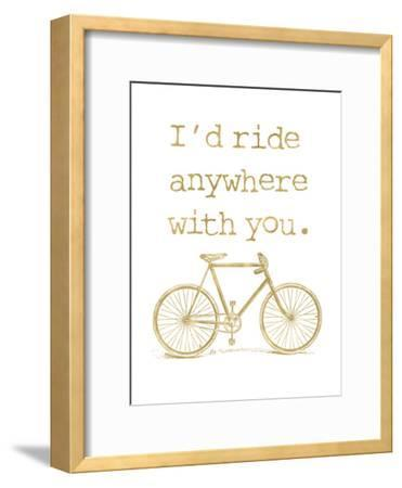 Bicycle I'd Ride Anywhere Golden White
