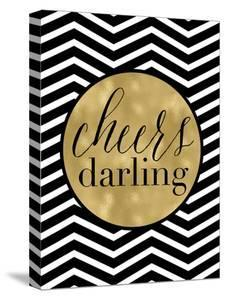 Cheers Darling Black White Chevron by Amy Brinkman