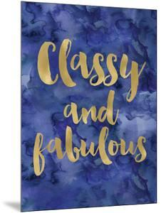 Classy Fabulous Gold Blue Watecolor by Amy Brinkman