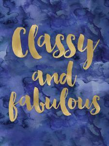 Classy Fabulous Gold Blue Watecolor by Amy Brinkman