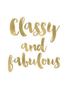 Classy Fabulous Gold White by Amy Brinkman