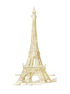 Eiffel Tower Golden White by Amy Brinkman