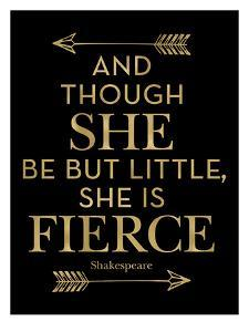 Fierce Shakespeare Arrows Golden Black by Amy Brinkman