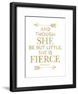 Fierce Shakespeare Arrows Golden White by Amy Brinkman