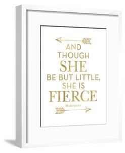 Fierce Shakespeare Arrows Golden White by Amy Brinkman