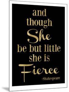 Fierce Shakespeare Golden Black by Amy Brinkman