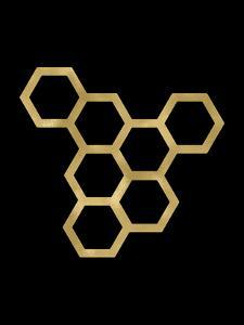 Honeycomb Modern Golden Black by Amy Brinkman