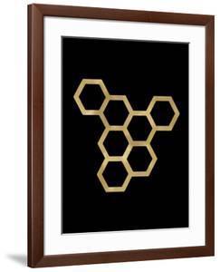 Honeycomb Modern Golden Black by Amy Brinkman