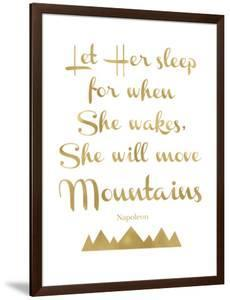 Let Her Sleep Mountains Golden White by Amy Brinkman