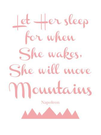 Let Her Sleep Mountains Pink by Amy Brinkman