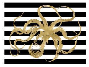 Octopus Black White Stripe by Amy Brinkman