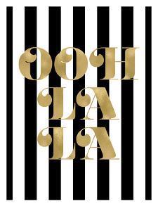 Ooh La La Black White Stripe by Amy Brinkman
