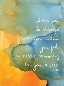 Rumi Watercolor Soul River by Amy Brinkman