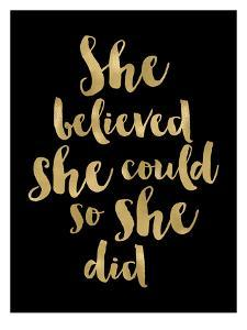 She Believed She Could Golden Black by Amy Brinkman