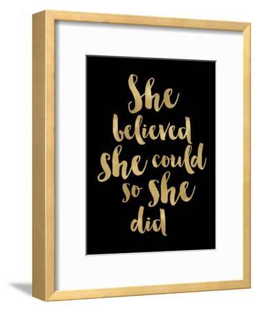 She Believed She Could Golden Black