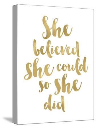 She Believed She Could Golden White