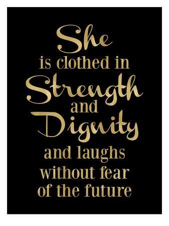She Is Clothed in Strength Golden Black