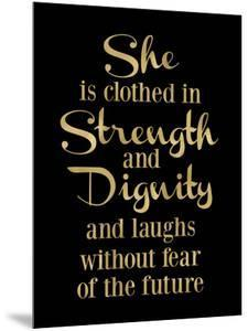 She Is Clothed in Strength Golden Black by Amy Brinkman