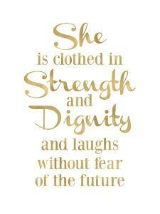 She Is Clothed in Strength Golden White by Amy Brinkman