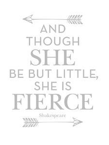 She Is Fierce Gray by Amy Brinkman