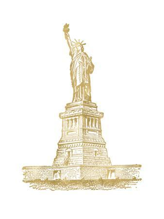 Statue of Liberty Golden white by Amy Brinkman