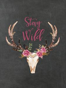 Stay Wild Skull Chalkboard by Amy Brinkman