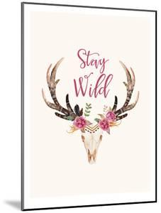 Stay Wild Skull Cream by Amy Brinkman