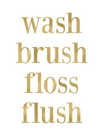 Wash Brush Floss Golden White by Amy Brinkman