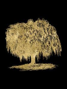 Weeping Willow Tree Golden Black by Amy Brinkman