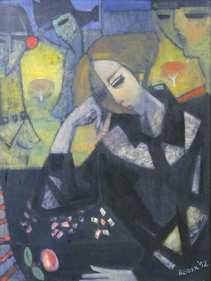 Amy in the Studio, 1992-Endre Roder-Giclee Print
