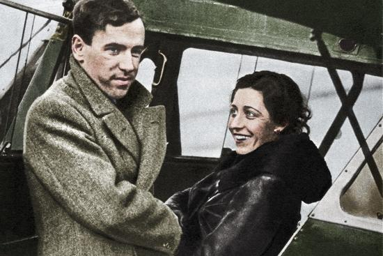 Amy Johnson, British aviator, about to set out for Cape Town, 1932-Unknown-Photographic Print