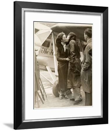 Amy Johnson, British Aviator Who Made Several Record Flights--Framed Giclee Print