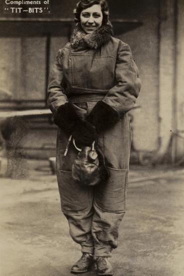 Amy Johnson, British Aviator--Photographic Print