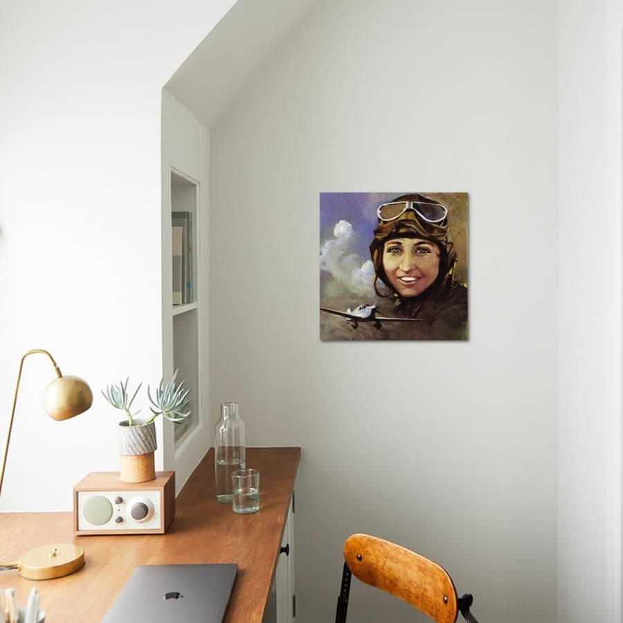Amy Johnson Who Flew from Croydon to Capetown Giclee Print by ...