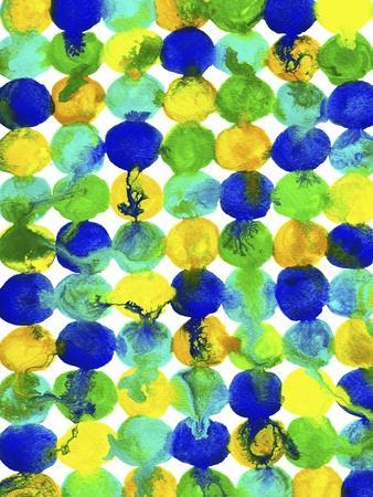 Blue Yellow Green Abstract Flowing Paint Pattern
