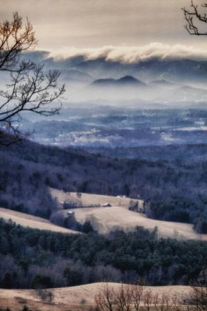 A Tsunami of Clouds Tumbles over the Blue Ridge Mountains Down to the Farming Valley Below by Amy White Al Petteway