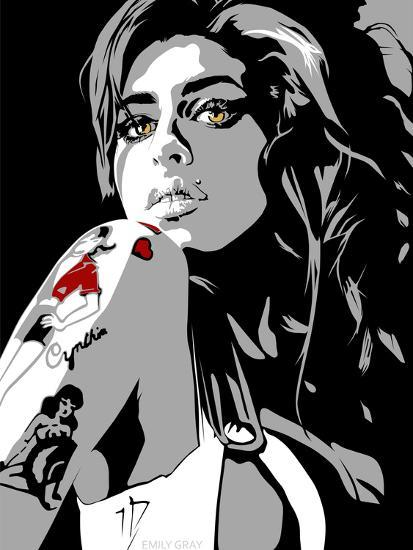 Amy Winehouse-Emily Gray-Giclee Print
