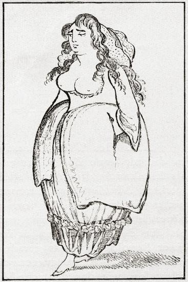 An 18th Century London Streetwalker. from Illustrierte Sittengeschichte Vom Mittelalter Bis Zur Geg--Giclee Print