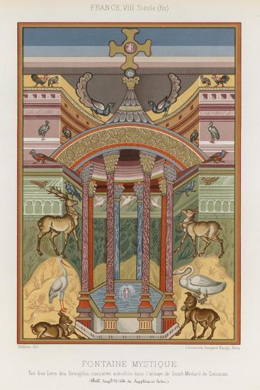An 8th-Century Depiction of a Mystical Fountain--Giclee Print