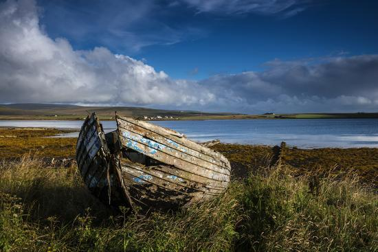 An abandoned boat on the island of Hoy.-Jim Richardson-Photographic Print