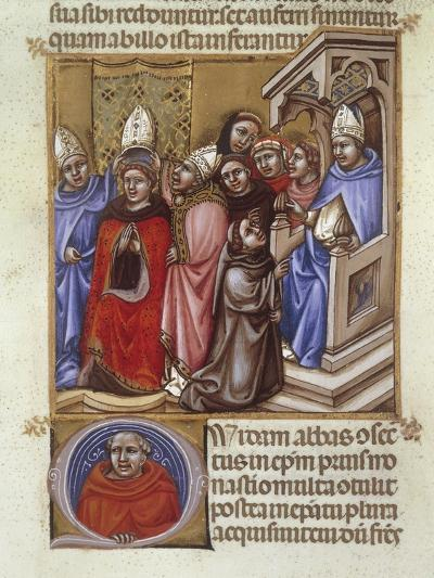 An Abbot Consecrated by a Bishop, Miniature from Concordantia Discordantium Acanonum--Giclee Print