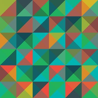 An Abstract Geometric Vector Pattern-Mike Taylor-Art Print