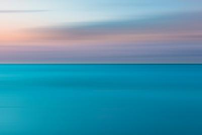 An Abstract Ocean Seascape with Blurred Panning Motion-Jacek Kadaj-Photographic Print