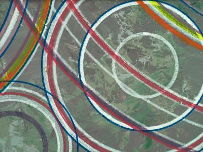An Abstract Painting, Circular Theme-clivewa-Art Print