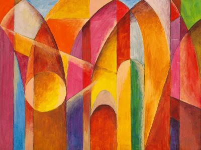 An Abstract Painting, Suggestive of Architecture-clivewa-Art Print